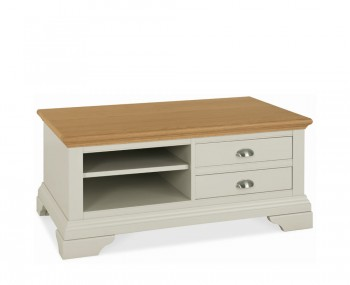 Hampstead Soft Grey and Oak Coffee Table