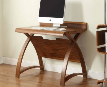 Emmanuel Walnut Small Computer Table