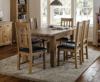 Dexter Oak Extending Dining Table and Chairs