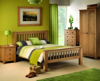 Wiltshire Oak Slatted High Foot End Bed Frame