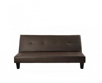 Fusion Brown Faux Leather Sofa Bed