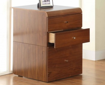 Emmanuel Walnut 3 Drawer Desk Unit