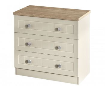 Levante Two-Tone 3 Drawer Chest