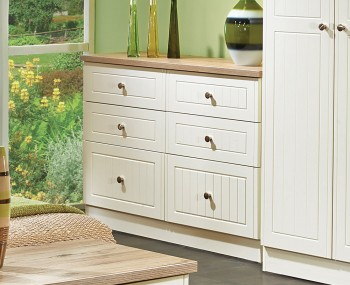Levante Two-Tone 6 Drawer Midi Chest