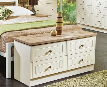Levante Two-Tone 4 Drawer Bed Box Chest