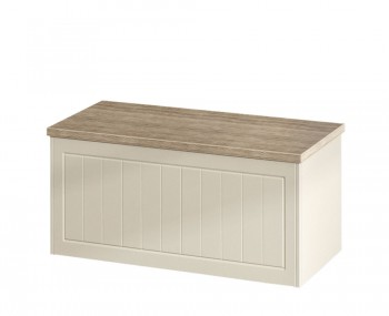 Levante Two-Tone Blanket Box