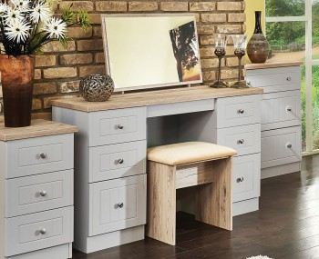 Levante Two-Tone Double Dressing Table