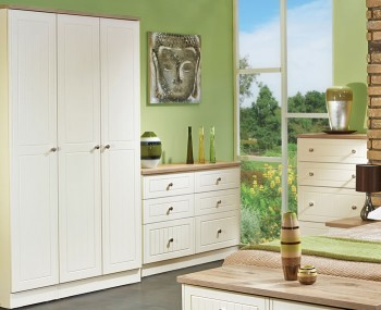 Levante Two-Tone 3 Door Tall Wardrobe