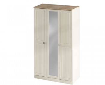 Levante Two-Tone 3 Door Tall Wardrobe with Mirror