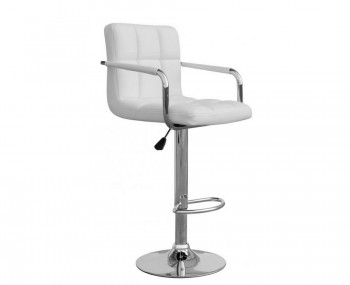 Clifford White Leather Match Bar Stool