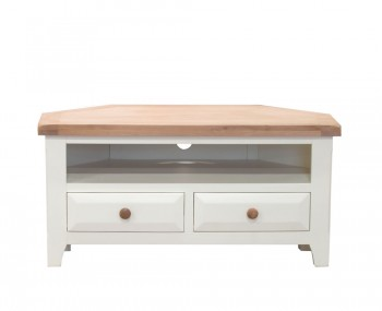 Marne Two-Tone Corner TV Unit