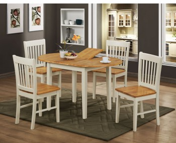 Gwendolyn Two Tone Extending Dining Table and Chairs