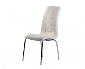 Simone Ivory Faux Leather Dining Chairs