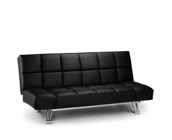 Manhattan Black Faux Leather Clic-Clac Sofa Bed