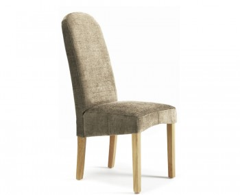 Mursley Bark Fabric and Oak Dining Chairs