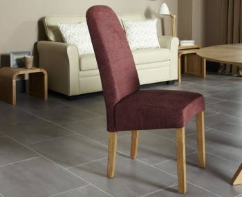 Mursley Shiraz Fabric and Oak Dining Chairs