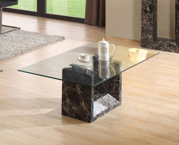 Irving Glass and Marble Coffee Table
