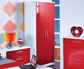 Danni Red Teens 2 Door Wardrobe