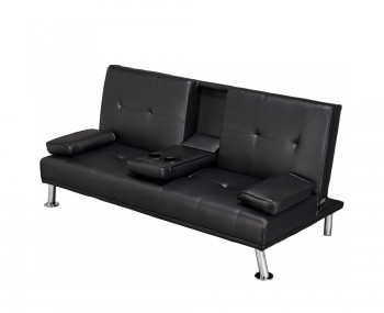 Sofa beds clic clac pull out futon in leather fabric frances hunt - Matelas futon clic clac ...