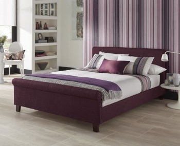 Henri Plum Upholstered Bed