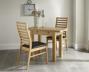 Mansfield Oak Flip Top Breakfast Table and Chairs