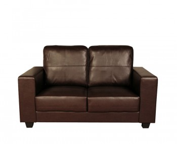 Briggs 2 Seater Brown Faux Leather Sofa