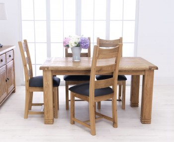 Claudio Oak Dining Table and Chairs