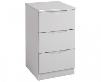 Safara 3 Drawer Cashmere High Gloss Bedside Chest