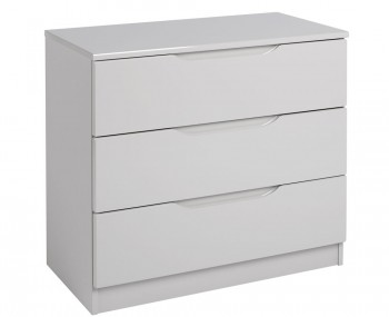 Safara 3 Drawer Cashmere High Gloss Chest