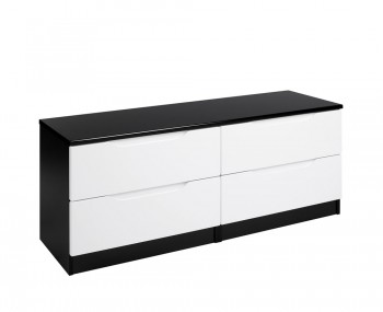 Vogue 4 Drawer Bed Box High Gloss Chest