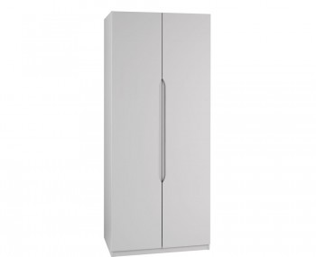 Safara 2 Door Tall Cashmere High Gloss Wardrobe
