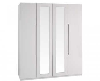 Safara 4 Door Tall Cashmere High Gloss Wardrobe