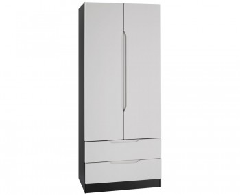 Vogue 2 Door 2 Drawer High Gloss Wardrobe