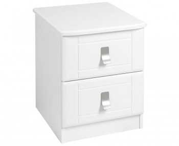 Sigrid White 2 Drawer Bedside Chest