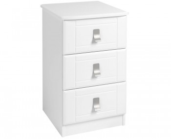 Sigrid White 3 Drawer Bedside Chest