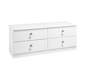 Sigrid White 4 Drawer Bed Box Chest