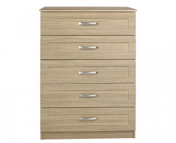 Alonzo Oak 5 Drawer Chest