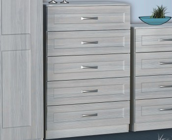 Alonzo White Avola 5 Drawer Chest