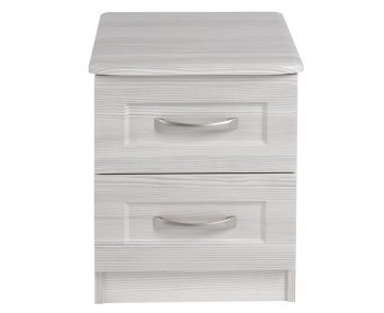 Alonzo White Avola 2 Drawer Bedside Chest