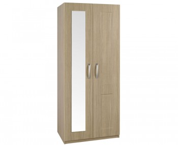 Alonzo Oak Tall 2 Door Wardrobe