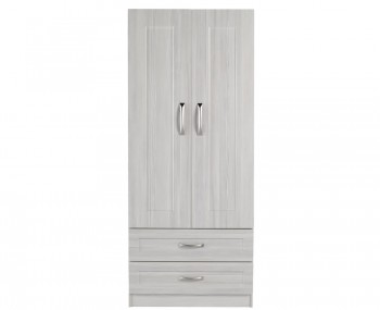 Alonzo White Avola 2 Door 2 Drawer Wardrobe
