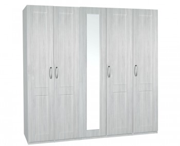 Alonzo White Avola Tall 5 Door Wardrobe