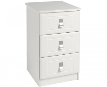 Sigrid Cream 3 Drawer Bedside Chest