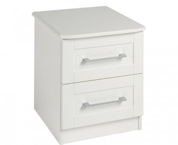 Marcello Cream 2 Drawer Bedside Chest