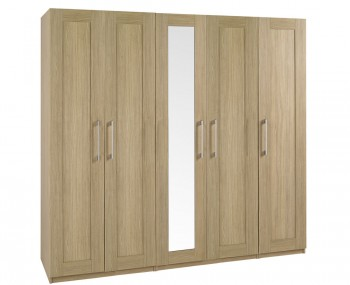 Marcello Oak 5 Door Tall Wardrobe