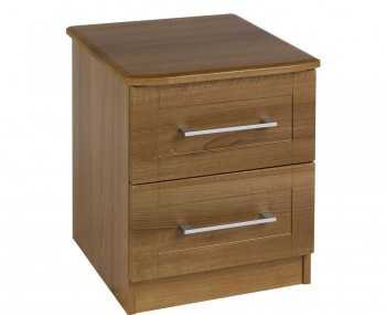 Marcello Walnut 2 Drawer Bedside Chest