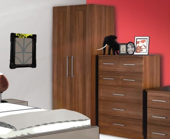 Marcello Walnut 2 Door Wardrobe