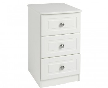 Toliara Cream 3 Drawer Bedside Chest