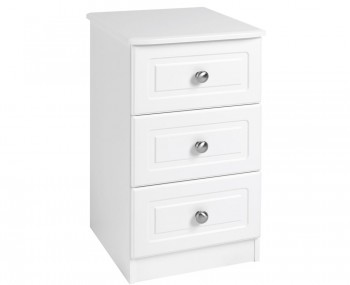 Toliara White 3 Drawer Bedside Chest