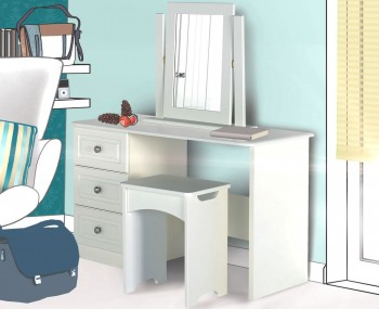 Toliara Single Cream Dressing Table